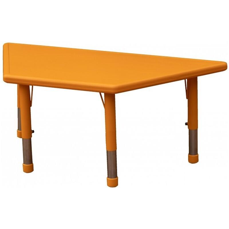Masa Gradinita trapez cu inaltime reglabila Happy, portocaliu
