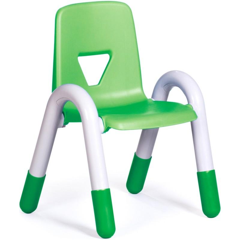 Scaun Gradinita cu cotiere Happy 30 cm, verde