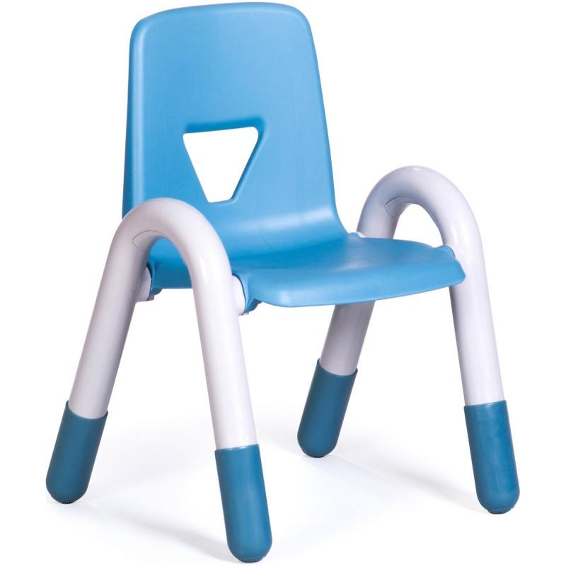 Scaun Gradinita  cu cotiere Happy 26 cm, albastru