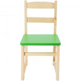 Scaun gradinita Eliss color din lemn, Verde