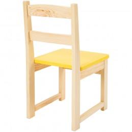 Scaun gradinita Eliss color din lemn, Galben