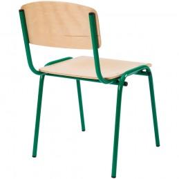 Scaun gradinita Eliss cu cadru metalic, Verde