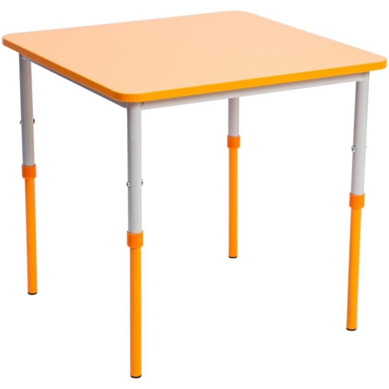 Masa gradinita Eliss patrata, cu cadru metalic reglabil, Orange