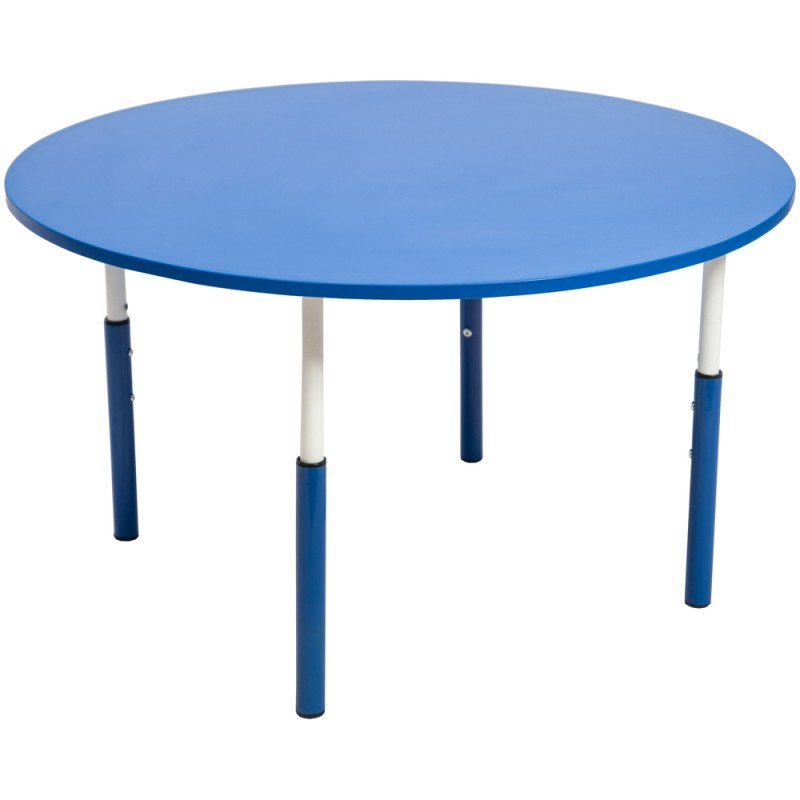 Masa gradinita cu inaltime reglabila cerc 7 Pitici - Albastru