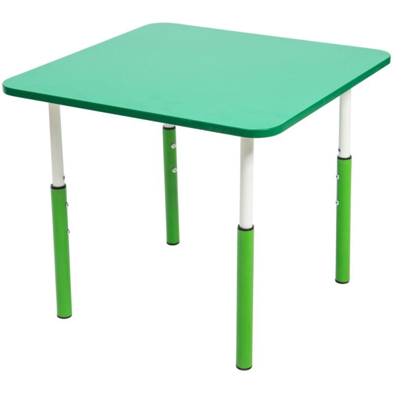Masa gradinita cu inaltime reglabila patrat 7 Pitici - Verde