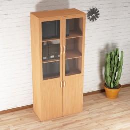 Dulap biblioteca cu 4 usi, 2 din sticla