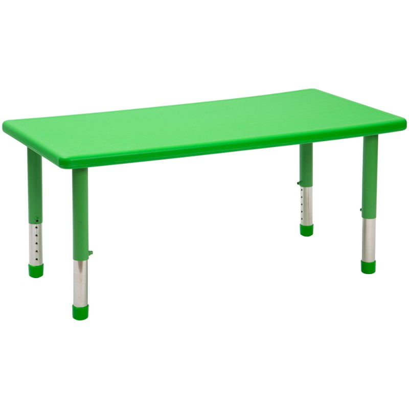 Masa Gradinita dreptunghiulara cu inaltime reglabila Happy, Verde