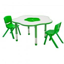 Masa de activitate Happy PRO cu inaltime reglabila, Verde
