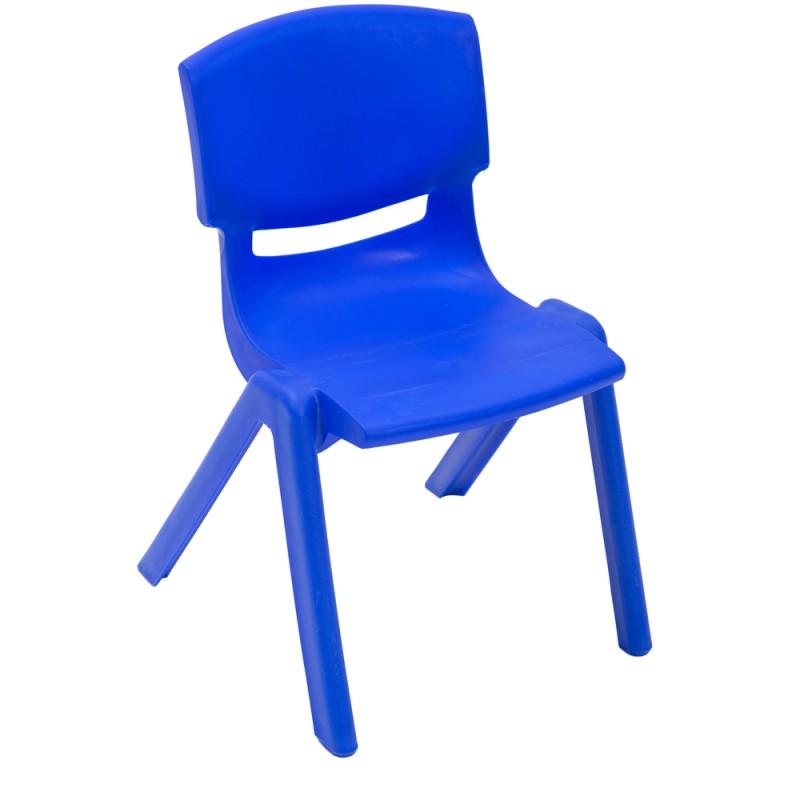 Scaun stivuibil gradinita Happy 26 cm, Albastru