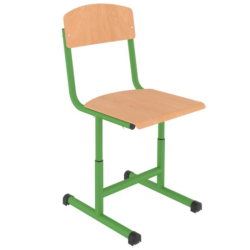 Scaun scolar reglabil Zibi, teava rotunda, Green
