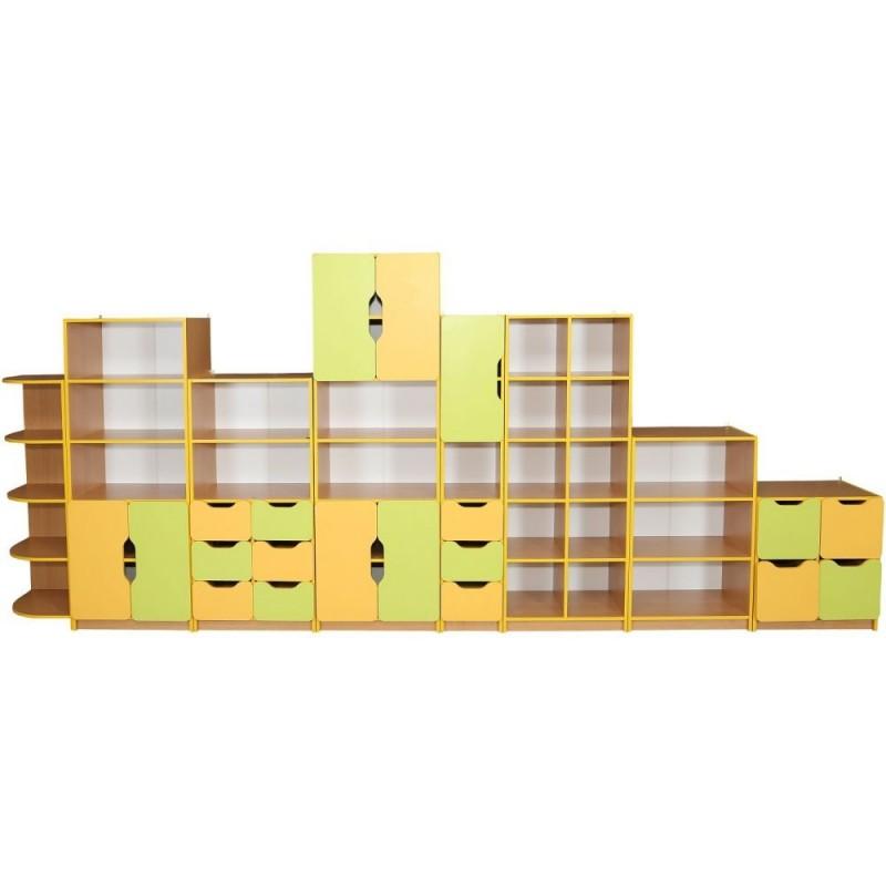 Set mobilier MBL cu usi si sertare